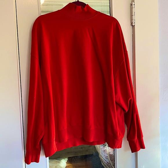 Red-Orange turtle neck sweatshirt